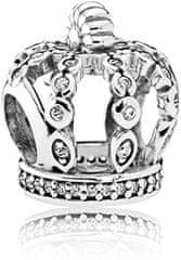 Pandora Strieborný korálik Rozprávková koruna 792058CZ striebro 925/1000