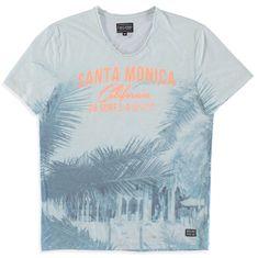 Cars-Jeans Pánské triko Santa Monica 4135720 Offwhite