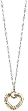 Guess Finom vonalú szív nyaklánc kristályokkal UBN83010
