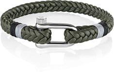 Morellato Zelena pletena zapestnica Vela SAJC11