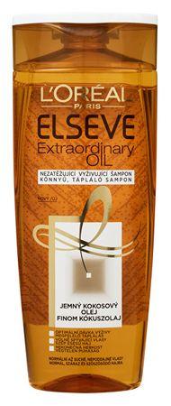 Loreal Paris Szampon odżywczy z olejem kokosowym dla normalnej i suchej, niesforne włosy Elseve Nadzwyczajnego Oi