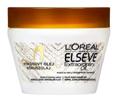 Loreal Paris Maska do włosów z oleju kokosowego normalnych i suchych unruly włosów Elseve niezwykłych oleju 300 m