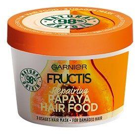Garnier Fructis regeneráló hajpakolássérült hajra ( Papaya Hair Food) 390 ml