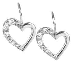 Brilio Silver Ezüst fülbevaló Szív 436 001 00405 04 ezüst 925/1000
