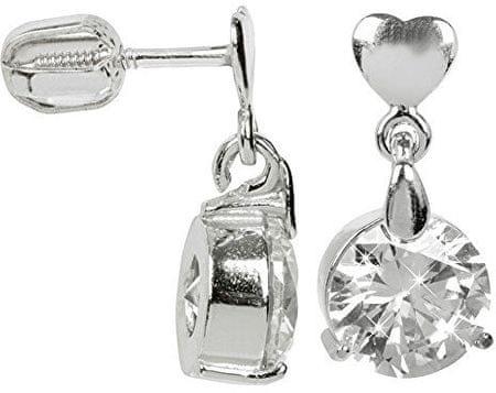 Brilio Silver Srebrne kolczyki z dużym kryształem 436 001 00 409 04 - 3,26 g srebro 925/1000