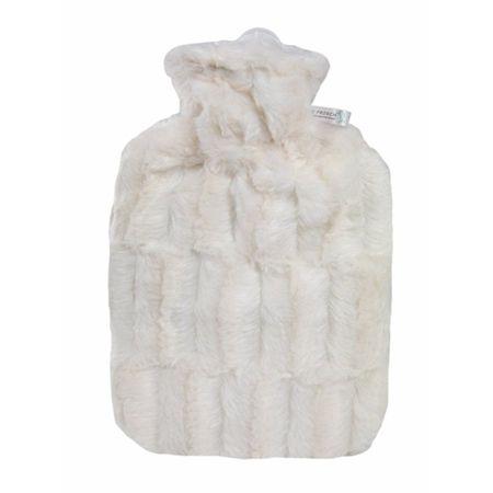 Hugo Frosch Termofor Classic s obalom z umelej kožušiny - biely s podšívkou