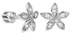 Brilio Silver Kwiat Kolczykiz kryształkami 436 001 00438 04 srebro 925/1000
