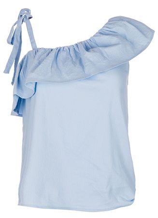 Vero Moda Dámska blúzka Sia One Shoulder Frill Top Cerulean (Veľkosť XS)