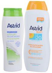 Astrid Hydratační mléko na opalování OF 20400 ml+ Vyživující tělové mléko 250 ml
