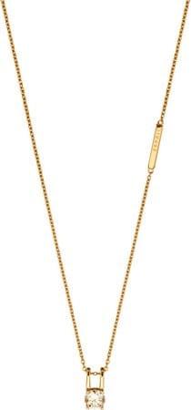 Esprit Pozlátený náhrdelník so zirkónom Lillian ESNL00101242 (retiazka, prívesok) striebro 925/1000