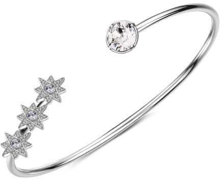Brosway Odprta zapestnica s kristali Affinity G9AF14 (Premer 60 mm) srebro 925/1000