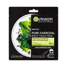 Garnier Czarna maska tekstylna z ekstraktem z wodorostów Pure Skin Natura l s z drzewa Charcoal Skin Natur