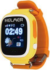 Helmer Chytré dotykové hodinky s GPS lokátorem LK 703 žluté + SIM karta GoMobil s kreditem 50 Kč