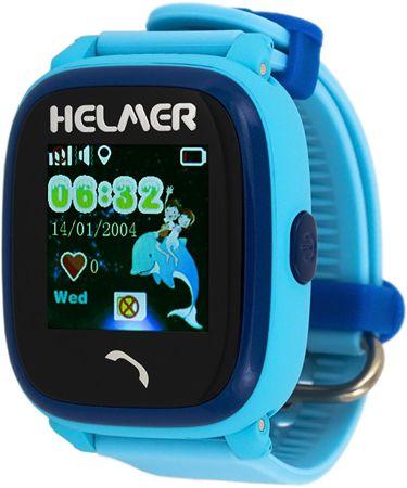 Helmer LK 704 praktikus,vízálló intelligens óra GPS lokátorral - kék