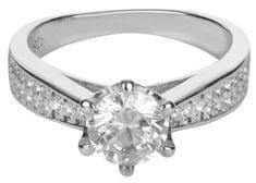 Brilio Silver Srebrni zaročni prstan 426 158 00081 srebro 925/1000
