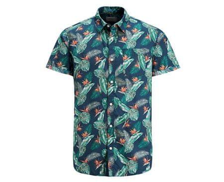 Jack&Jones Koszula męska Jorpaka Shirt SS Total Eclipse (rozmiar M)
