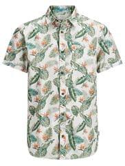 Jack&Jones Pánska košeľa Jorpaka Shirt SS Silver Birch
