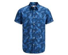 Jack&Jones Pánska košeľa Jorpaka Shirt SS Dark Denim