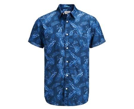 Jack&Jones Koszula męska Jorpaka Shirt SS Dark Denim (rozmiar S)