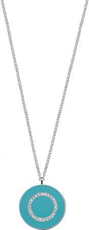 Morellato Strieborný náhrdelník s tyrkysovým príveskom Perfetti SALX19 (retiazka, prívesok) striebro 925/1000