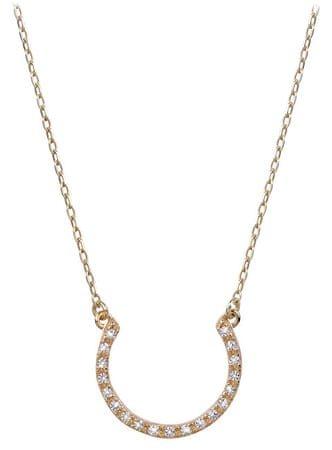 Brilio Zlatý náhrdelník s krystaly 279 001 00081 - 2,55 g zlato žluté 585/1000