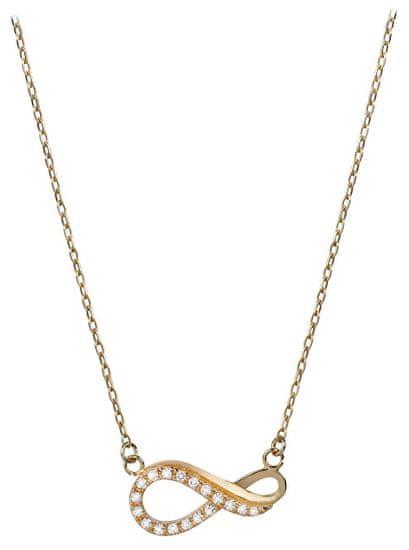 Brilio Zlatý náhrdelník Nekonečno s kryštálmi 279 001 00087 žlté zlato 585/1000