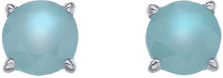 Hot Diamonds Srebrni uhani Hot Diamonds Anais blue agate AE009 srebro 925/1000