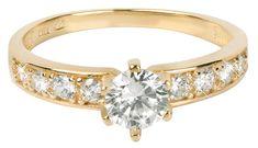 Brilio Zlatý prsteň s kryštálmi 229 001 00761 žlté zlato 585/1000