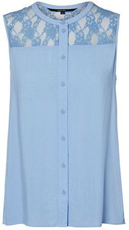 Vero Moda Abby S / L Shirt A Vista Niebieska bluzka (rozmiar M)