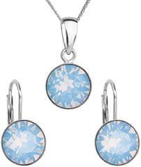 Evolution Group Komplet biżuterii srebrnej 39140,7 niebieski opal srebro 925/1000