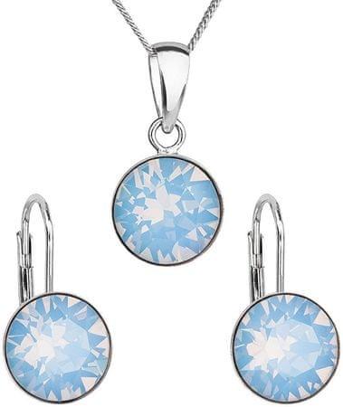 Evolution Group Srebrni nakit 39140.7 modri opal (uhani, veriga, obesek) srebro 925/1000