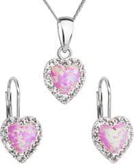Evolution Group Set nakita za srce 39161.1 & lahka vrtnica s.opal (uhani, veriga, obesek) srebro 925/1000