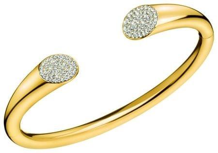 Calvin Klein Tömör aranyozott karkötő Brilliant KJ8YJF1401 kristályokkal (dimenzió M (6,2 x 4,9 cm-es))