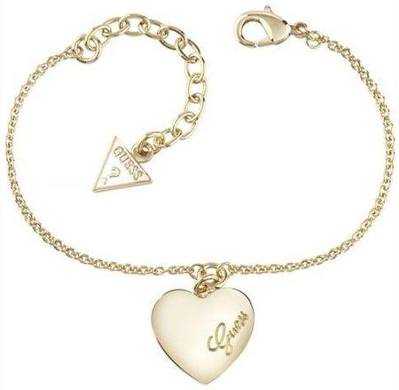 f7f2b6c10 Guess Aranyozott karkötő szív medállal UBB61045-S