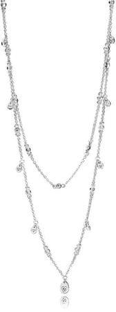 Pandora Dupla nyaklánc csillogó medálokkal 397084CZ-45 ezüst 925/1000