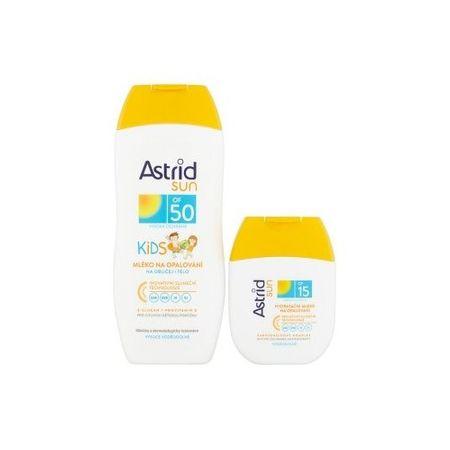 Astrid Zestaw do opalania Mleczko do opalania dla dzieci 50 200 ml + Nawilżający krem do opalania o pojem