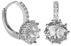 Troli Błyszczące Kolczykiz przezroczystym kryształ