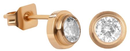 Troli Aranyozott acél fülbevalók kristályokkal