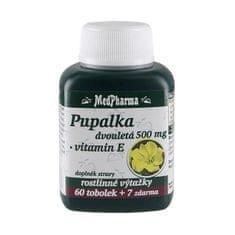MedPharma Pupalka dvouletá 500 mg + vitamín E 60 tob. + 7 tob. ZDARMA