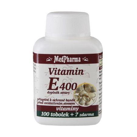 MedPharma Vitamín E 400 100 tob. + 7 tob. ZDARMA