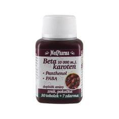 MedPharma Beta karotén 10 000 IU + panthenol + PABA 30 tob. + 7 tob. ZD ARMA