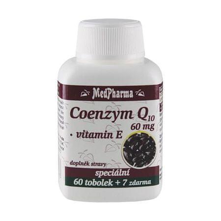 MedPharma Coenzym Q10 60 mg FORTE 60 tob. + 7 tob. ZD ARMA