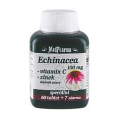 MedPharma Echinacea 100 mg + vitamín C + zinok 60 tbl. + 7 tbl. ZD ARMA