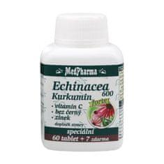 MedPharma Echinacea 600 Forte + kurkumín + vitamín C + baza čierna + zinok 60 tbl. + 7 tbl. ZD ARMA