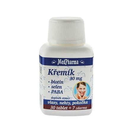 MedPharma Křemík 30 mg + biotin + selen + PABA 30 tob. + 7 tob. ZDARMA