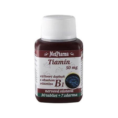 MedPharma Thiamin 50 mg – doplněk stravy s obsahem vitamínu B1 30 tbl. + 7 tbl. ZDARMA