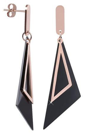 Troli Megkülönböztető fekete-fehér háromszög fülbevalók