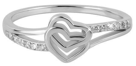 Troli Szerelem gyűrű szívvel (áramkör 53 mm) ezüst 925/1000