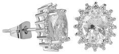 Troli Błyszczące Kolczykiz przezroczystym nawet kryształy