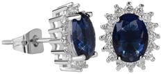 Troli Błyszczące Kolczyki z niebieskimi kryształami